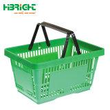 HANDeinkaufskorb des Supermarkt-pp. Plastikmit doppelten Griffen