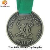 Überzug-silberne freie Stichprobenplan-kundenspezifische Marathon-Medaille