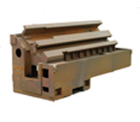 OEM на заказ ковкое железо литье в песчаные формы станина токарного станка с