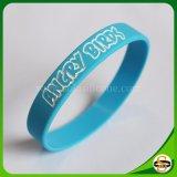 Kundenspezifischer Firmenzeichen-SilikonWristband mit gedruckt geprägt