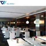 家具のレストラン表の白く光沢度の高いコーヒーテーブル