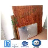 Comitati di alluminio a prova di fuoco del favo del grano di legno per lo scafo di nave