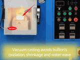 máquina de bastidor ahorro de energía del lingote de oro del vacío 15kw