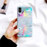 Caixa colorida do telefone do laser TPU do mármore clássico para o iPhone X