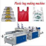 Vollautomatische Zeilen Shirt-Beutel-Ausschnitt-Maschine der doppelten Schicht-vier