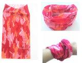 Progettare la sciarpa per il cliente magica multifunzionale del poliestere del camuffamento di colore rosa di Microfiber della stampa