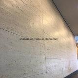 Revestimiento de pared exterior flexible y el techo, baldosas de piedra de Travertino