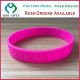 La gomma su ordinazione di modo ha stampato/impresso/Debossed/braccialetto luminoso di modo del silicone