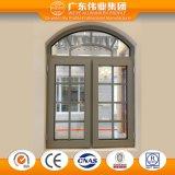 Guichet en aluminium de tissu pour rideaux de produits directs d'usine avec le gril anti-vol