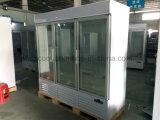 Холодильник замораживателя втройне стеклянной двери коммерчески для индикации мороженного