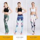 女性の適性の摩耗の体操およびヨガのズボンは、印刷されたパターンをカスタマイズする