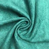 Polyester gestricktes Veloursleder-Gewebe für Kleid-Möbel Uphostery Sofa