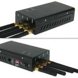 4 antenas portátiles 3G GSM CDMA Jammer celular Jammer/GPS WiFijammer