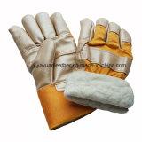 Мебель из натуральной кожи безопасности рабочие перчатки с полной внутренней панели боковины