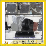 Schwarz/grau/rot/blau/Grün/purpurroter/weißer Granit/Marmor/Denkmal/Kirchhof-/Garten-Grundstein mit Engel (europäischem/amerikanischem/chinesischem/japanischem/russischem Stytle)