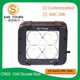Boîtier en aluminium 4X4 de double de rangée du CREE 40W barre d'éclairage LED pilotant 12V pour le véhicule tous terrains