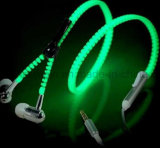 OEMの方法明るいジッパーのヘッドセットのヘッドホーンのイヤホーン
