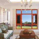 Foshan 곤충 스크린을%s 가진 이중 유리를 끼우는 여닫이 창 Windows