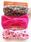 Großhandelsform-Baby-Haar-Zubehör-Farbbandbowknot-Hauptband-Baumwollhaar-Band-Haar-Verzierungen