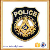 Divisa dura grabada recuerdo modificada para requisitos particulares de la policía del esmalte de la alta calidad