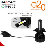 Bulbos 80W&#160 do farol do diodo emissor de luz do carro G20; 40W G20 H1 H11 9005 9006 5202 farol do diodo emissor de luz de H7 H4 R4