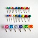 5 perni multicolori del programma di spinta della marcatura del chiodo a testa piatta della testa della sfera rotonda di formati