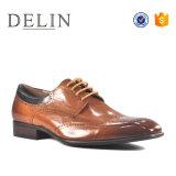 Los mejores precios estilos de moda de hombre zapatos de cuero auténtico
