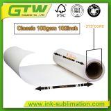 100 GSM Сублимация передачи бумаги для струйной печати на высокой скорости
