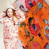 Tessuto del tessuto di seta naturale del poliestere con stampa, Giù-Prova, antistatica per il cappotto dei bambini