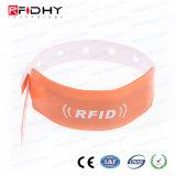 Wristband impermeable disponible del PVC RFID para el festival de música