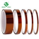 Adhesivo de silicona de los dedos de Oro la película de color ámbar de cinta de poliamida