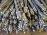 Manguito de alta presión del metal flexible del acero inoxidable con el borde