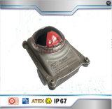 Válvula de mariposa neumática baratos con interruptor de límite de la bola de verificación realizados en Shanghai
