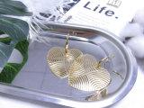 実質の金によってめっきされる真鍮の銅の方法大きい二重中心のイヤリング