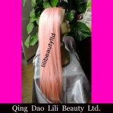 흑인 여성, 자유로운 레이스 가발 사람의 모발 분홍색 머리를 위한 도매 사람의 모발 가득 차있는 레이스 가발