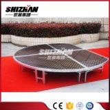 Modificado para requisitos particulares rápidamente ensamblar la etapa redonda de la danza portable de aluminio del marco