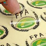 Zelfklevende Foiled van de Steen van de Sticker Kleurrijke Ronde Zilveren Hete