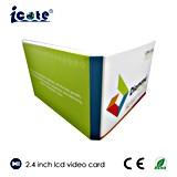 Folleto video del LCD del precio barato con alta calidad