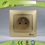 CE/TUV/CB Certified Европейский стандарт красочные токопроводящей дорожки 1 золотых гнезда на французском языке