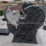 Grafsteen van de Vorm van het Hart van de Engel van de steen de Snijdende