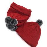 Обычная Beanie Red Hat POM с эффектом велюра мех шарик трикотажные Witner Beanie Red Hat