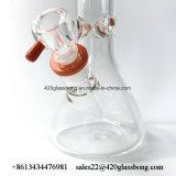 Glasstärken-rauchendes Wasser-Rohr des kunst-Spitzenglasbecher-7mm