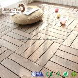 Telha de bloqueio composta plástica de madeira impermeável da plataforma de DIY WPC para o agregado familiar