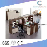 Stazione di lavoro classica dell'ufficio delle 4 persone con i cassetti moderni (CAS-W1877)