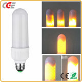 La luz de la llama Jardín impermeable 96 LED Lámparas de parpadeo