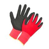 Super Grip красный нейлон спандекс нитриловые перчатки безопасности с покрытием
