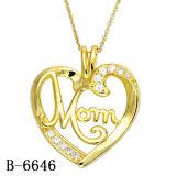 Trendy Juwelen 925 de Zilveren Echte Tegenhanger van het Hart van de Liefde voor Huwelijk