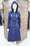 Nouvelle Collection Fashion Denim formelle des femmes musulmanes occasionnel manchon Long dress avec chapeau