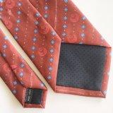 Les hommes d'impression personnalisée Polyester Tie à armure sergé (PT007)