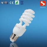La moitié de la spirale 15W Lampe à économie d'énergie lampes CFL